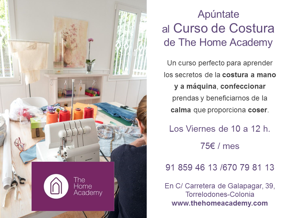 CARTEL COSTURA EN THE HOME ACADEMY